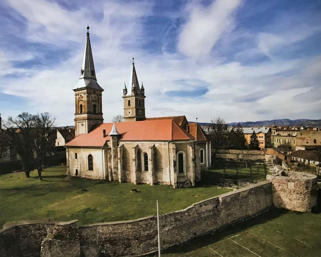 Kirchenburg von Broos; Fotografie aus dem Bildband Ueber Siebenbuergen, Band sechs