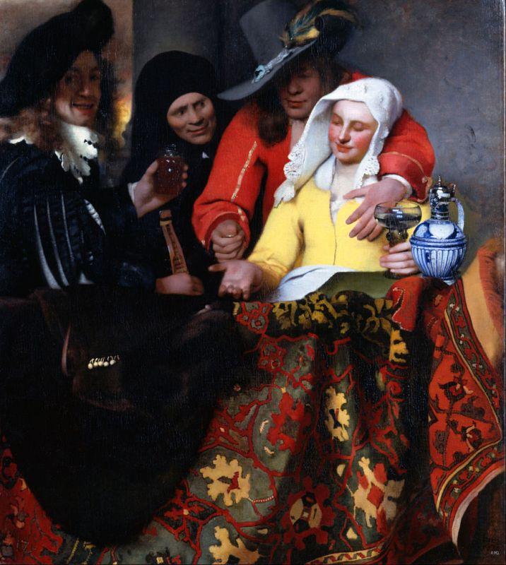 Jan Vermeer; Bei der Kupplerin (1656); Gemaeldegalerie Alte Meister, Dresden