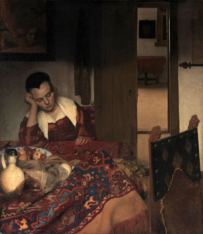 Jan Vermeer; Schlafendes Maedchen (1657); Metropolitan Museum of Art, New York