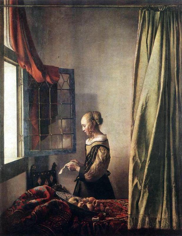 Jan Vermeer; Briefleserin am offenen Fenster (1657); Gemaeldegalerie Alte Meister, Dresden