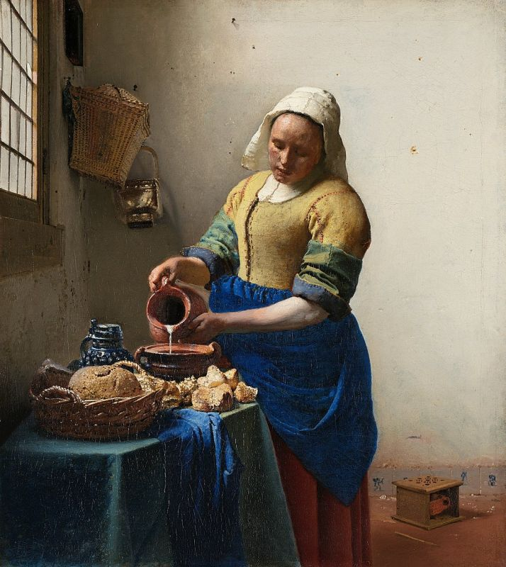 Jan Vermeer; Dienstmagd mit Milchkrug (1658–1660); Rijksmuseum, Amsterdam