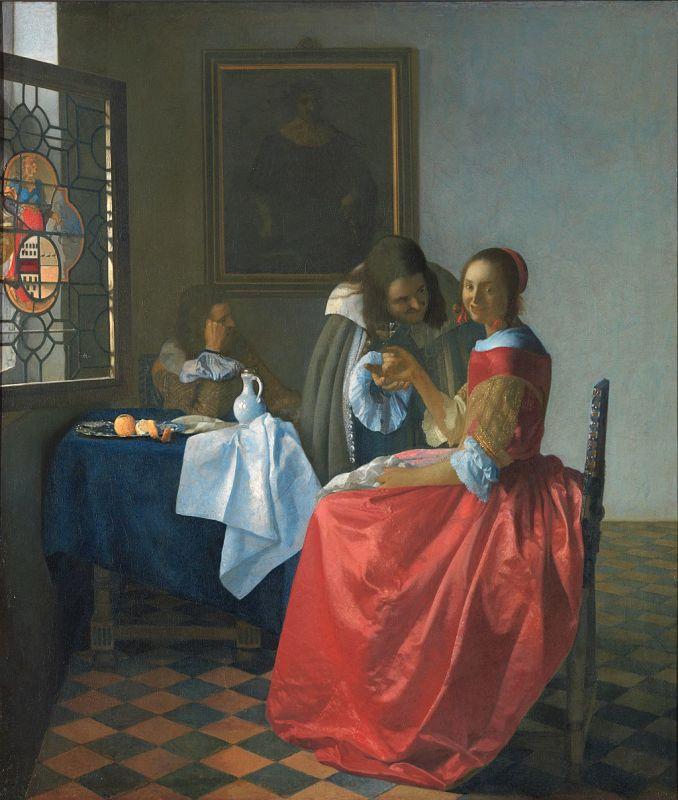 Jan Vermeer; Das Mädchen mit dem Weinglas (1659/1660); Herzog Anton Ulrich-Museum,Braunschweig