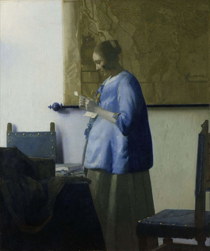 Jan Vermeer; Briefleserin in Blau (1662–1664); Rijksmuseum, Amsterdam