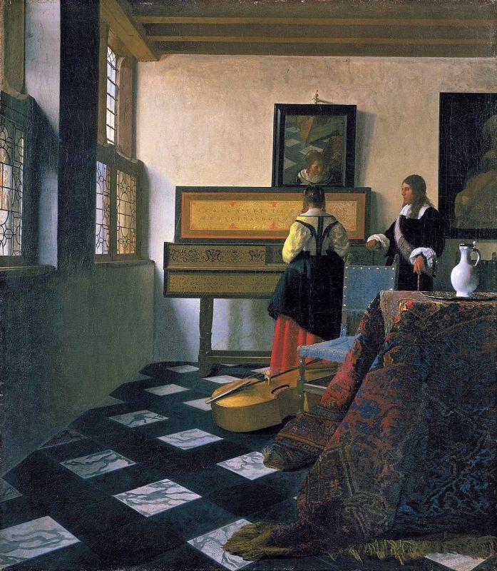 Jan Vermeer; Die Musikstunde (1662–1665); Royal Collection imBuckingham Palace, London