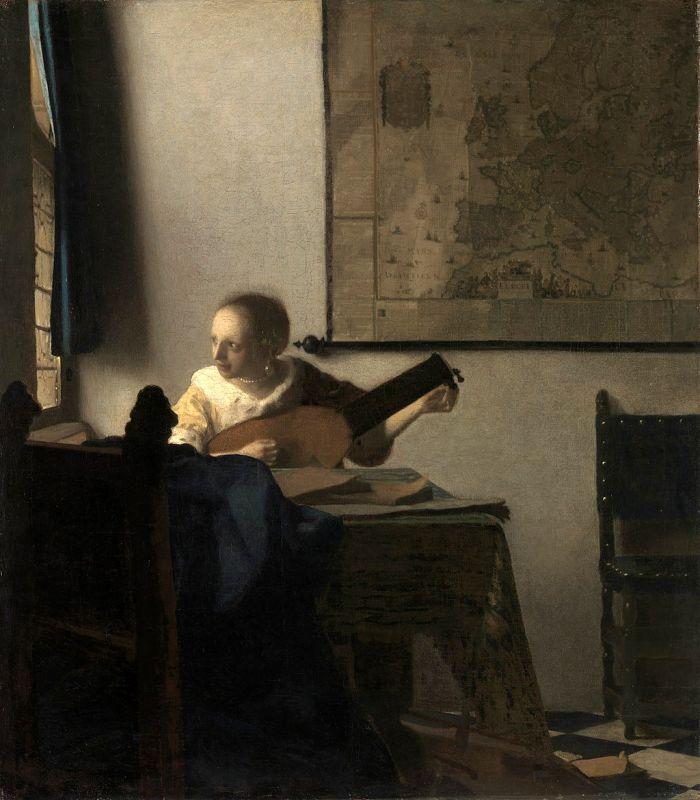 Jan Vermeer; Lautenspielerin am Fenster (1664); Metropolitan Museum of Art, New York