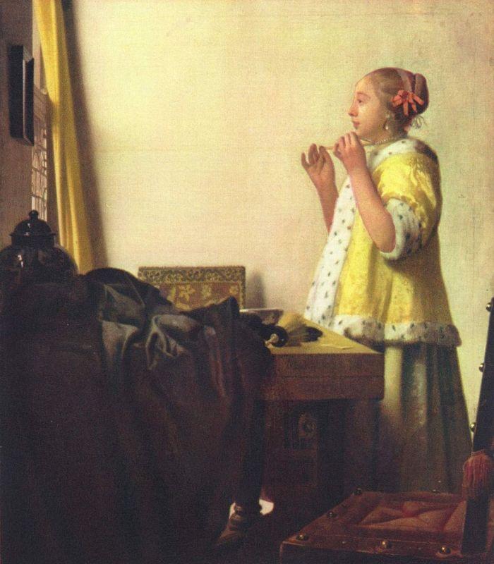 Jan Vermeer; Junge Dame mit Perlenhalsband (1664); Gemaeldegalerie, Berlin