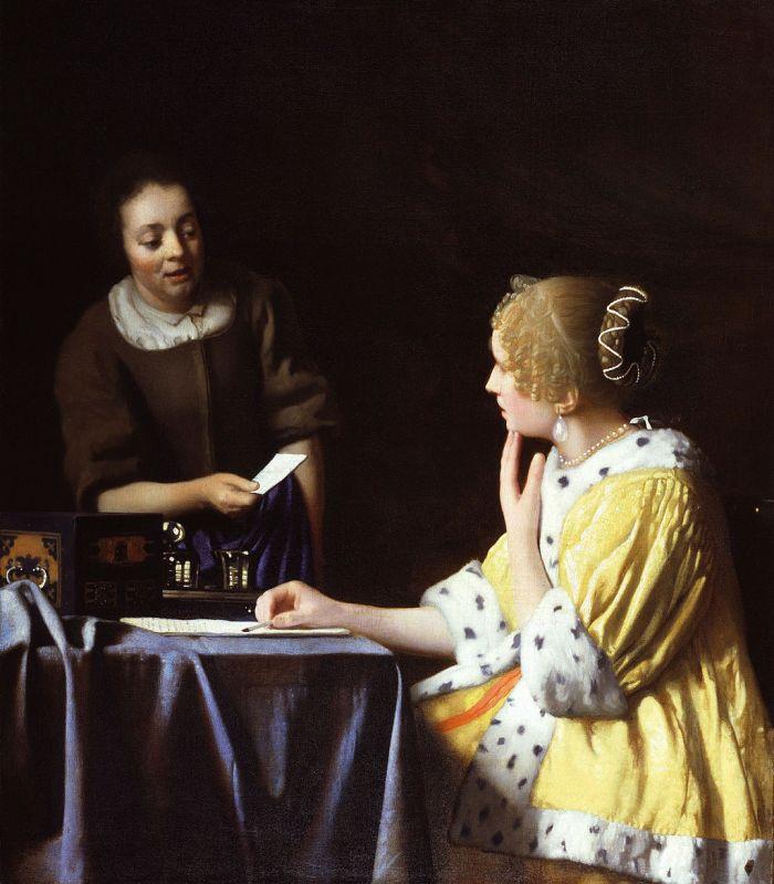 Jan Vermeer; Dame mit Dienstmagd und Brief (1667/1168); Frick Collection, New York