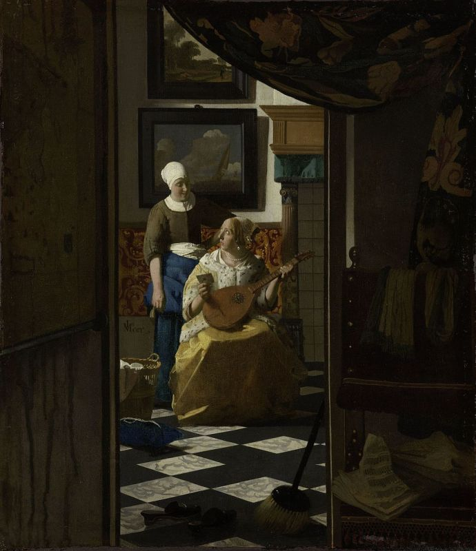 Jan Vermeer; Der Liebesbrief (1669/1670); Rijksmuseum, Amsterdam
