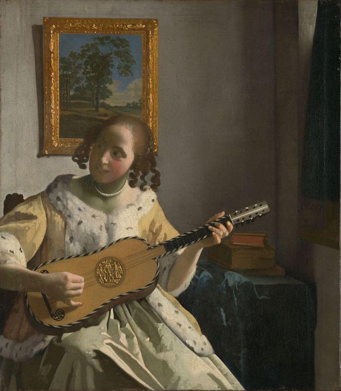 Jan Vermeer; Die Gitarrenspielerin, (1672); Kenwood House, London