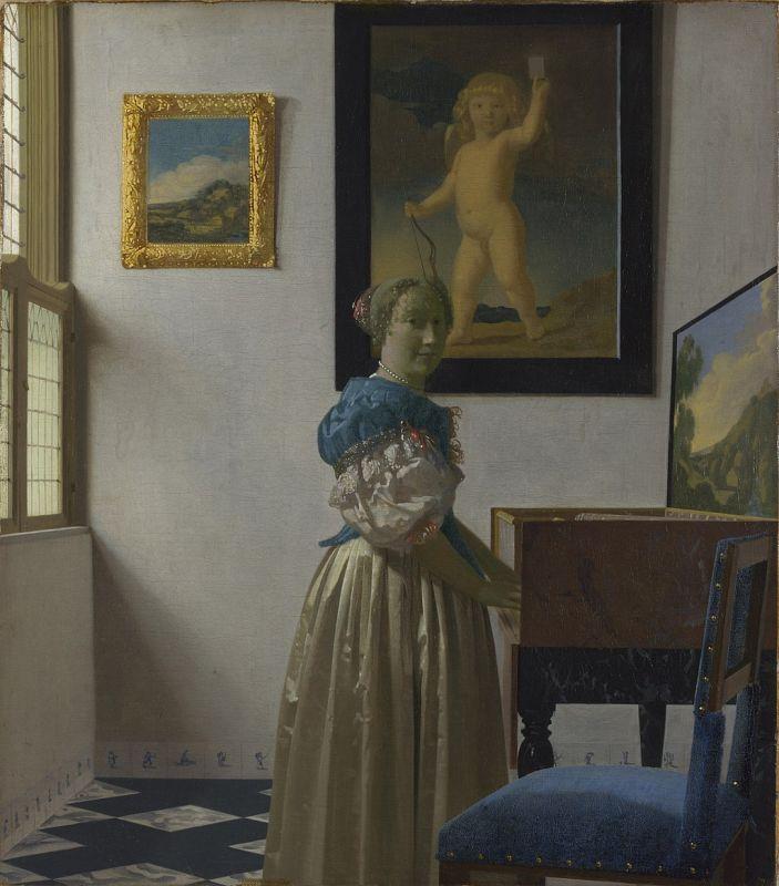 Jan Vermeer; Stehende Virginalspielerin; (1673–1675); The National Gallery, London