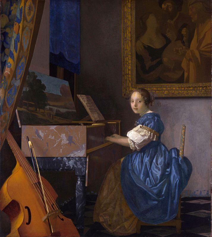 Jan Vermeer; Sitzende Virginalspielerin; (1673–1675); The National Gallery, London