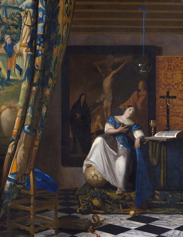 Jan Vermeer; Allegorie des Glaubens(1671–1674); Metropolitan Museum of Art, New York