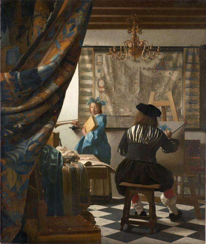 Jan Vermeer; Die Malkunst, ca. 1666-1668; Kunsthistorisches Museum, Wien