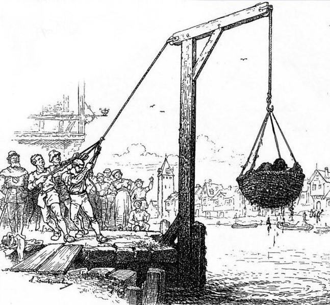 mittelalterliche Foltermethode mit dem Schandkorb