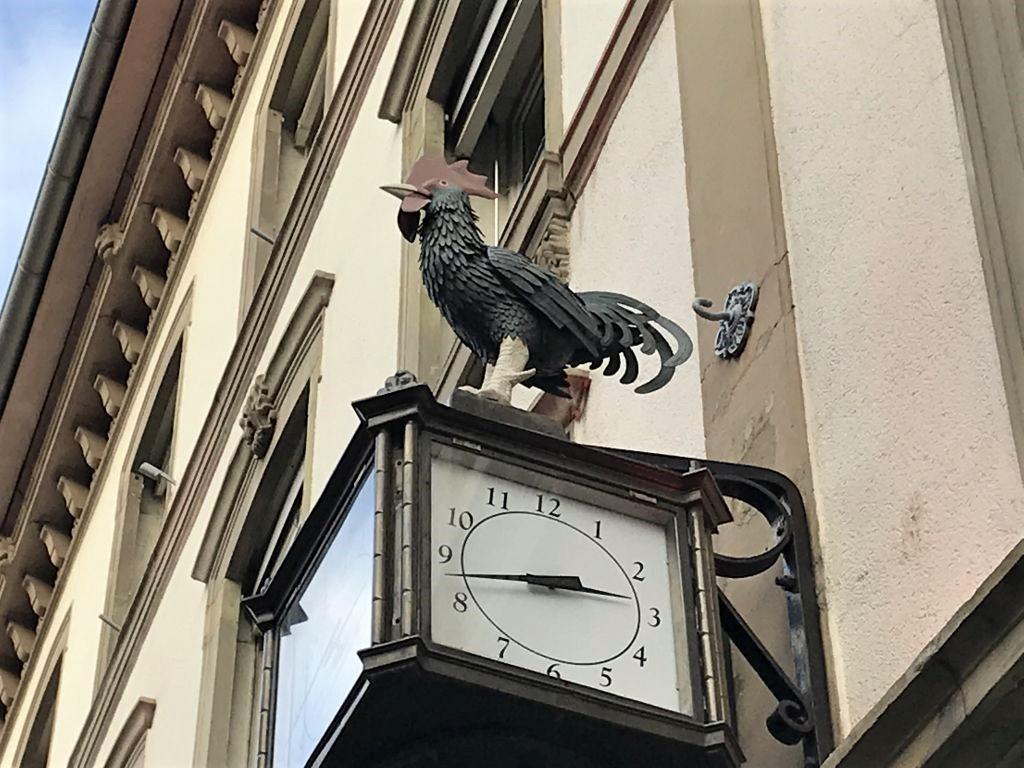 gallischer Hahn aus geschmiedetem Eisen in Strasbourg