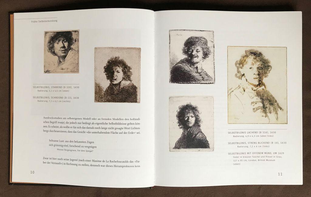 Abbildungen aus dem Buch Mensch Rembrandt mit Selbstbildnissen von Rembrandt