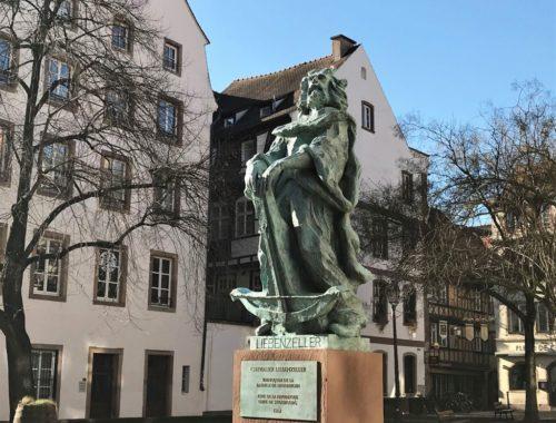 Denkmal des Rebellen und Ritters Liebenzeller in Strassburg