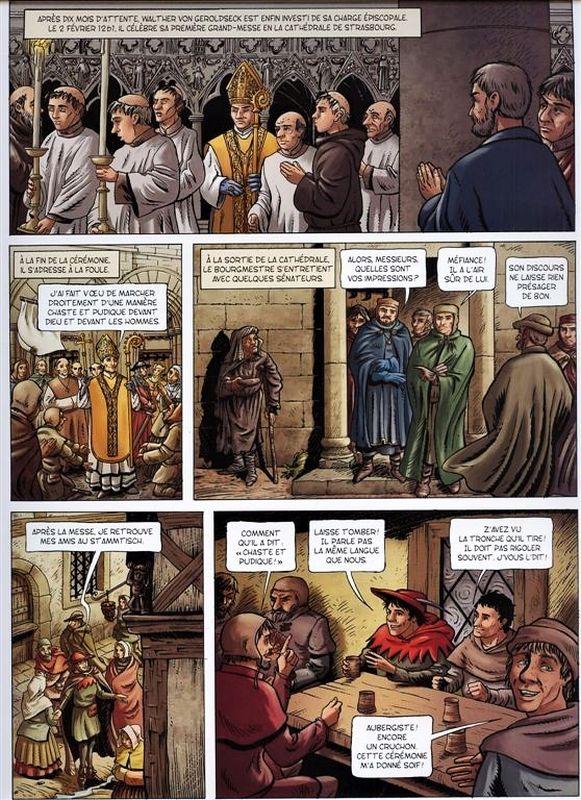 Seite aus dem Comic la bataille de Hausbergen