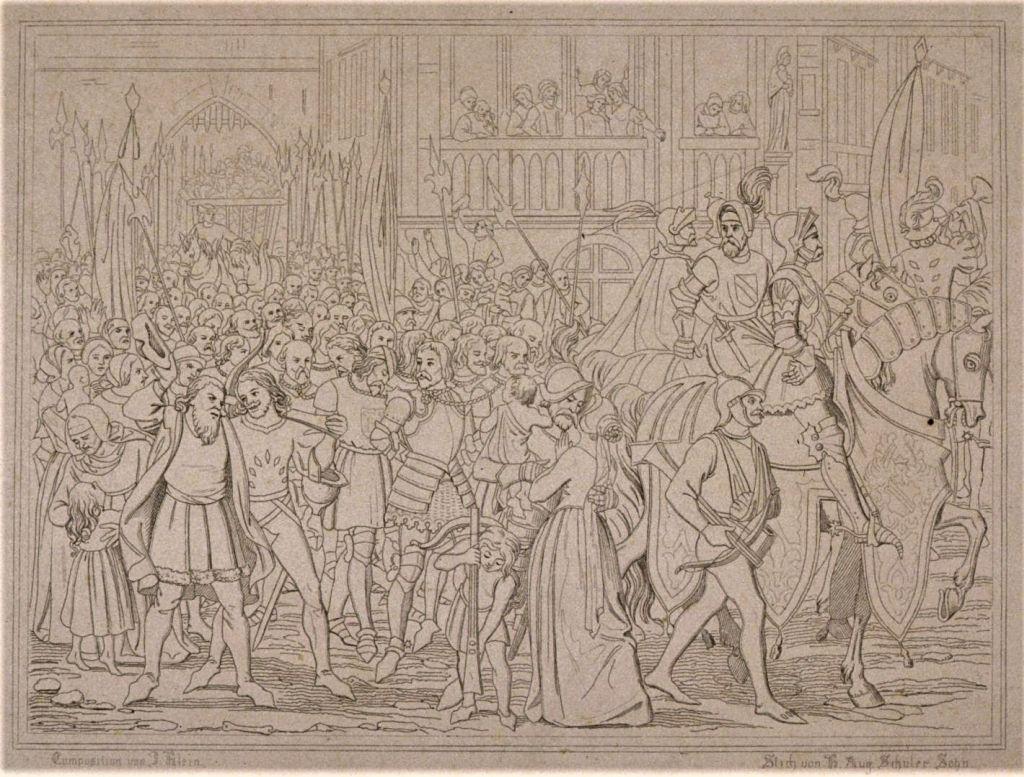 Bild Empfang der Sieger in Strassburg nach der Schlacht von Hausbergen 1262