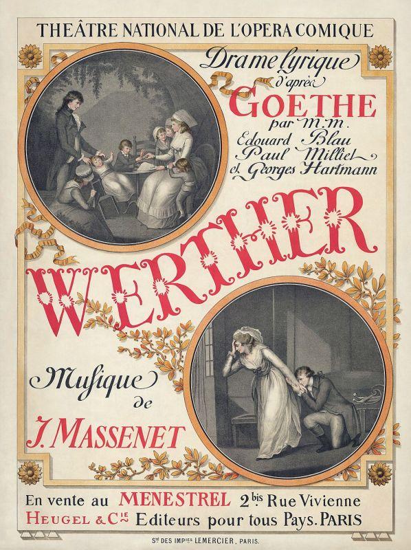 Programmheft der Oper Werther von Jules Massenet