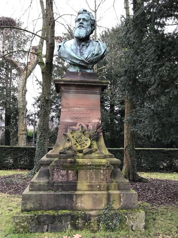Denkmal Victor Nessler im Parc de l'Orangerie in Strasbourg