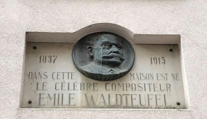 Gedenktafel Emile Waldteufel in Strasbourg