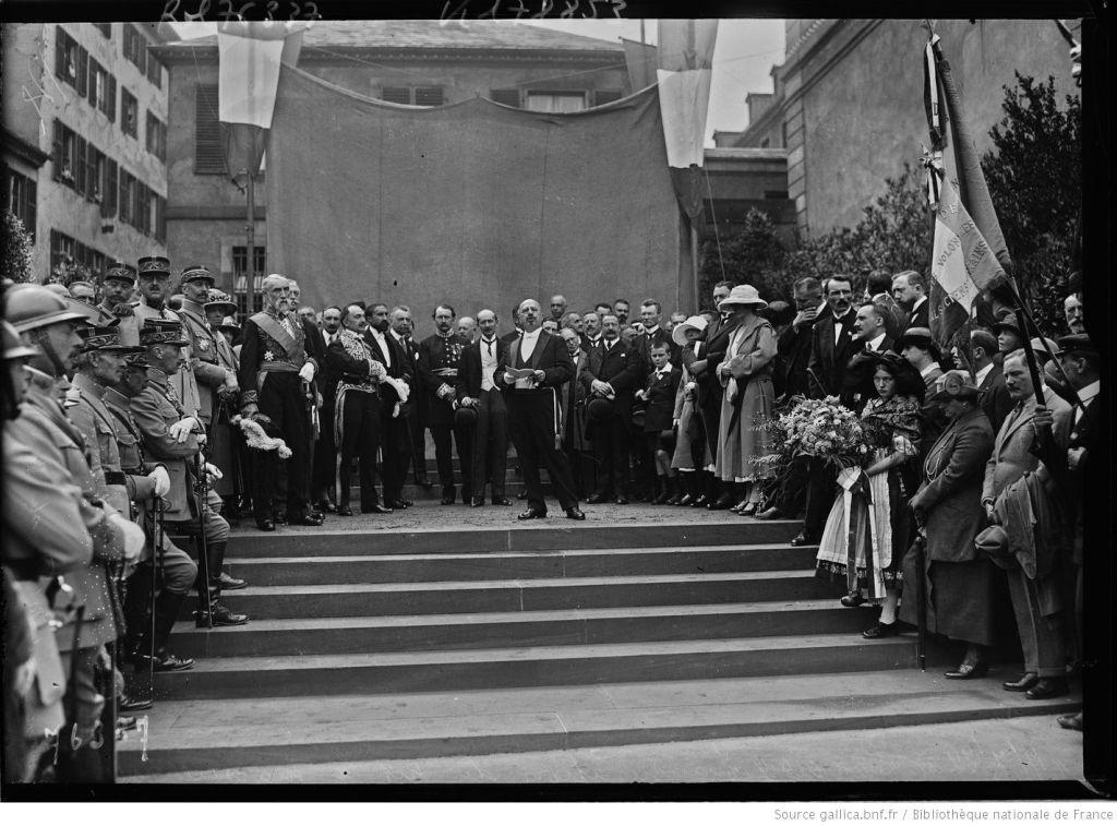 Einweihung Denkmal Marseillaise 1922, Place Broglie Strasbourg
