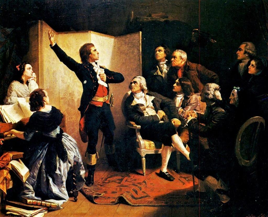 Gemaelde Isidore Pils - Rouget des Lisle singt die Marseillaise im Haus des Buergemeisters de Dietrich in Strasbourg