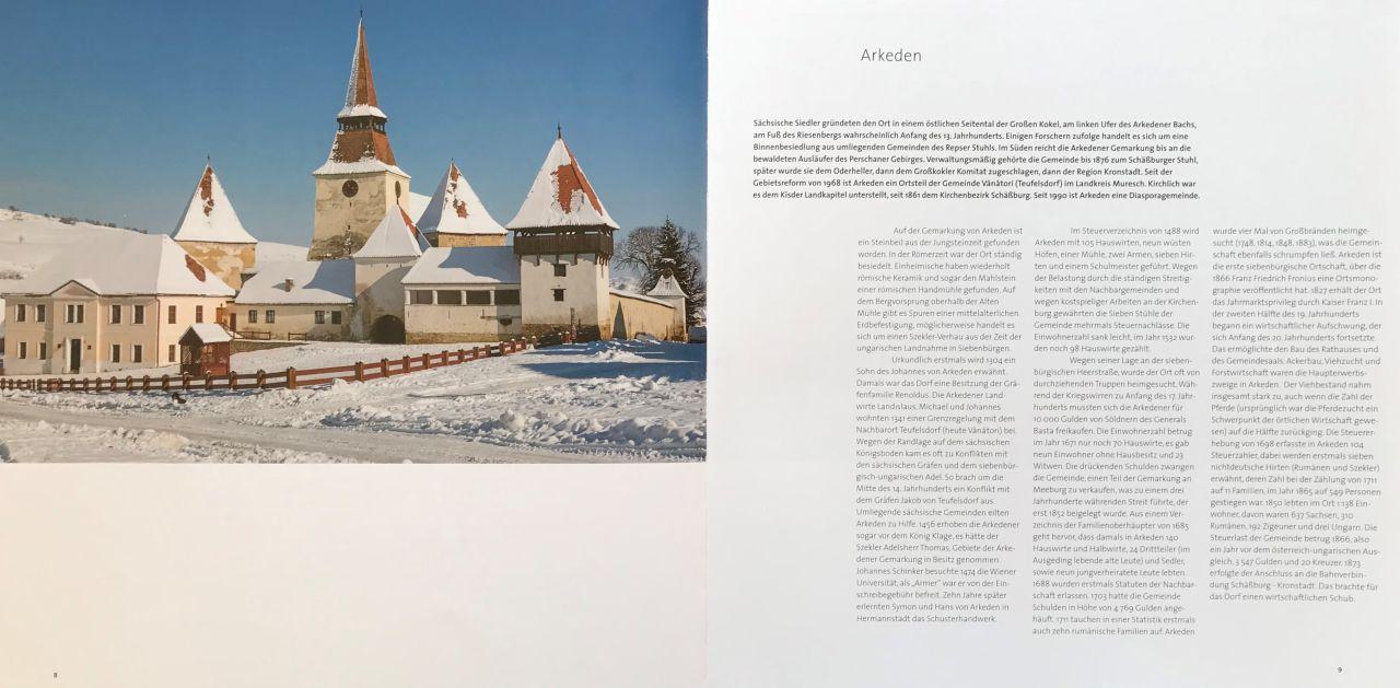 Foto Kirchenburg Arkeden aus dem Buch Schässburg und die grosse Kokel