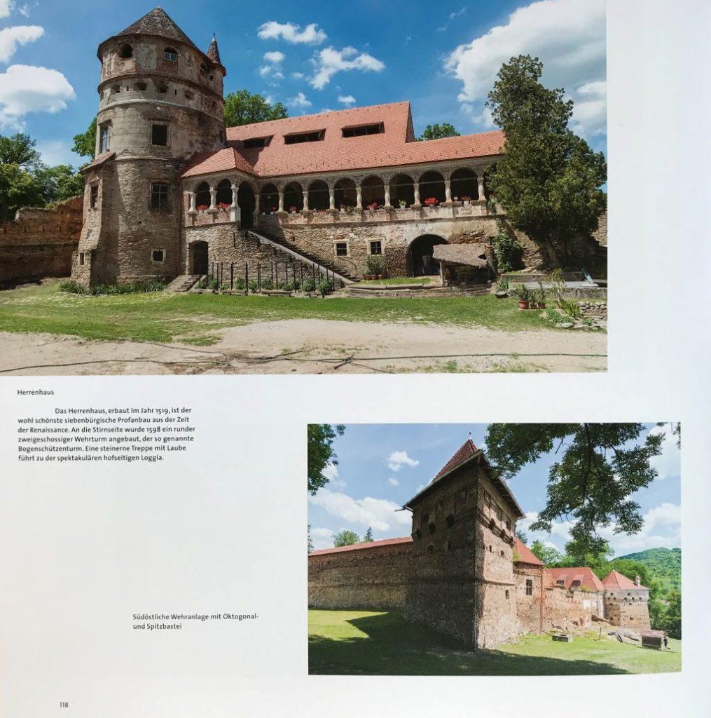 Schloss Bethlen in Kreisch; Abbildung aus dem Buch Schässburg und die grosse Koke