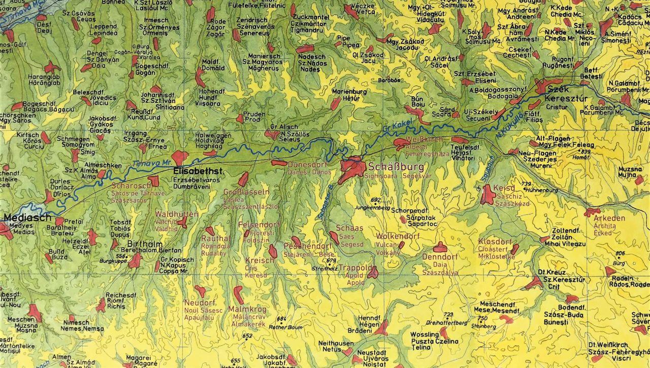 Karte aus dem Bildband Schässburg und die grosse Kokel von Martin Rill