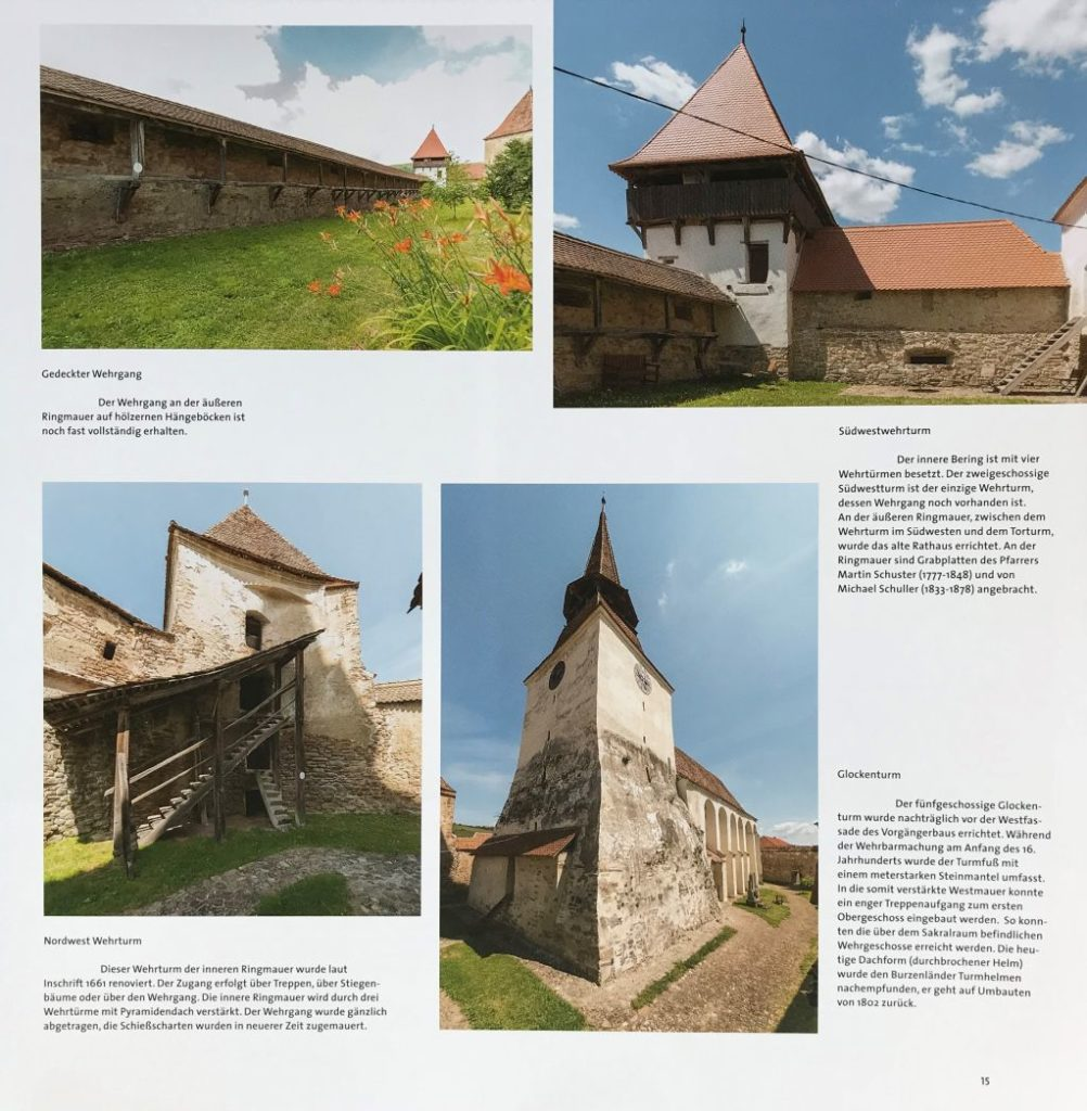Abbildung der Kirchenburg von Arkeden aus dem Buch Schässburg und die grosse Kokel