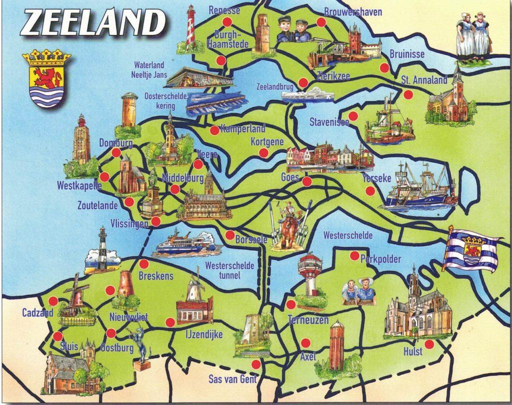 Karte von Zeeland