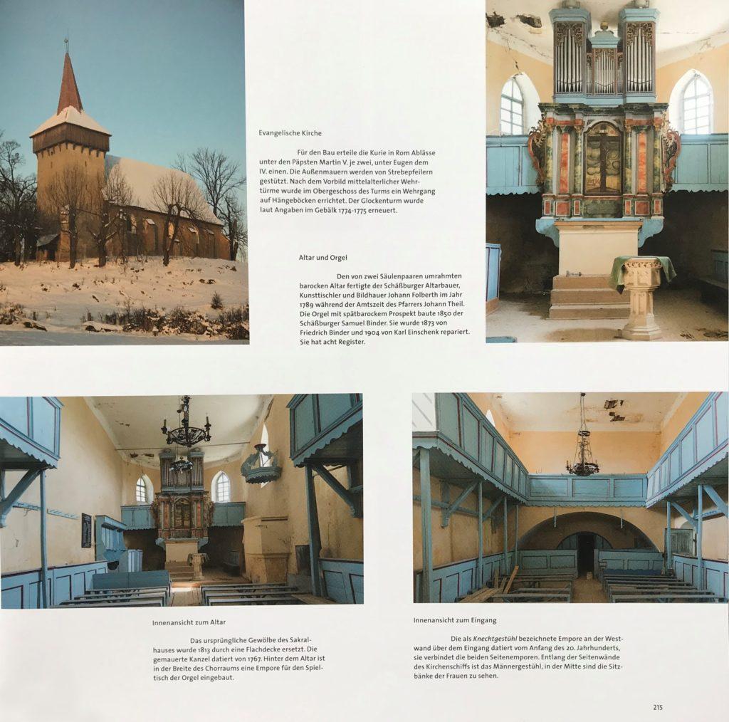 evangelische Kirche in Marienburg aus dem Bildband Einblicke ins Zwischenkokelgebiet von Martin Rill