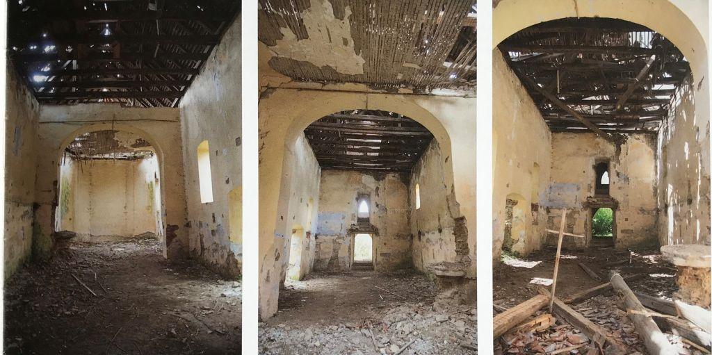 Innenansicht der evangelischen Kirche in Bellschdorf aus dem Bildband Einblicke ins Zwischenkokelgebiet von Martin Rill