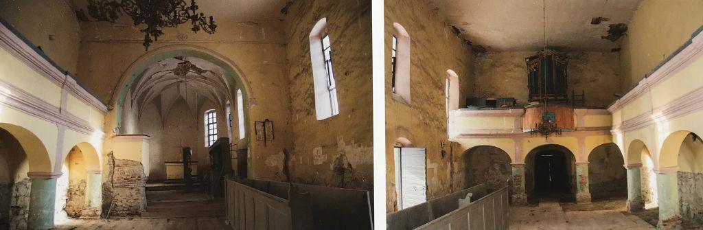 Innenansicht evangelische Kirche Reussdorf aus dem Bildband Einblicke ins Zwischenkokelgebiet von Martin Rill