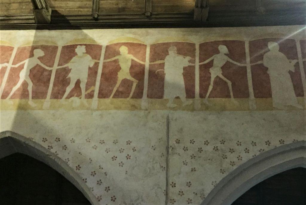 Fresko Danse macabre in der Kapelle Kermaria an Iskuit, Cotes d'Armor
