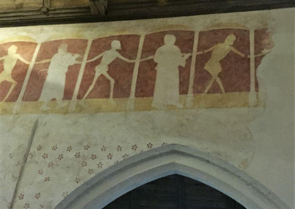 Fresko Danse macabre in der Kapelle Kermaria an Iskuit