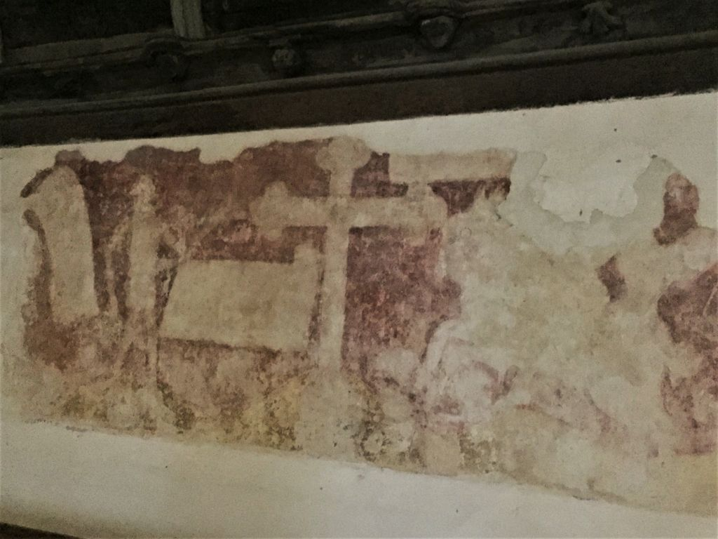 Wandgemaelde in der Kapelle Kermaria an Iskuit