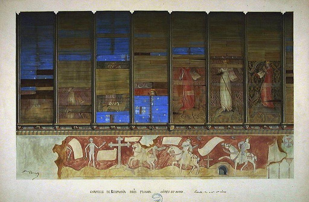 Gewoelbebemalung und Fresko in der Kapelle Kermaria an Iskuit