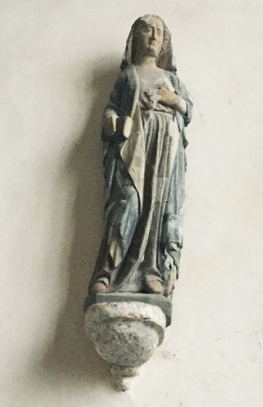 Holzstatue Heilige Barbara in der Kapelle Kermaria an Iskuit