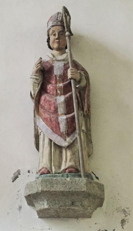 Holzstatue Saint Claude in der Kapelle Ker Maria an Iskuit