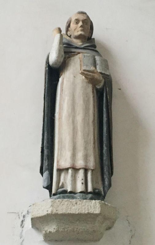 Holzstatue Heiliger Dominikin der Kirche Kermaria an Iskuit