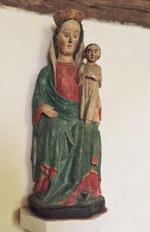 Holzstatue Notre Dame duu bon secours; Kirche Kermaria an Iskuit