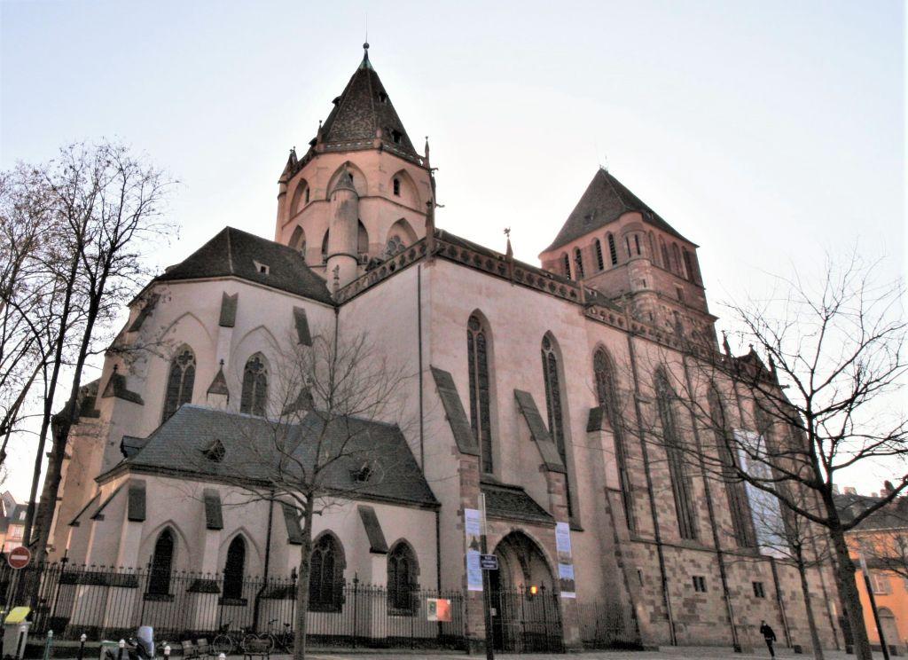 Nordfassade Thomaskirche Strassburg, Elsass