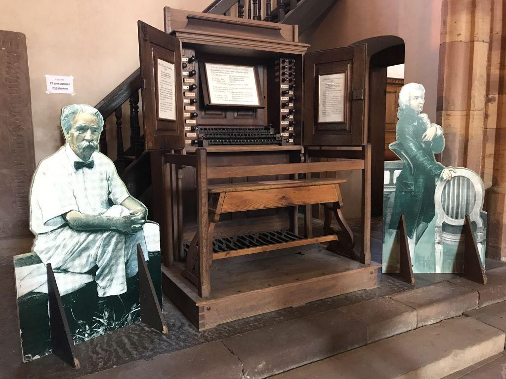 ehemaliger Spieltisch der Silbermann-Orgel in der Thomaskirche Strassburg, Elsass