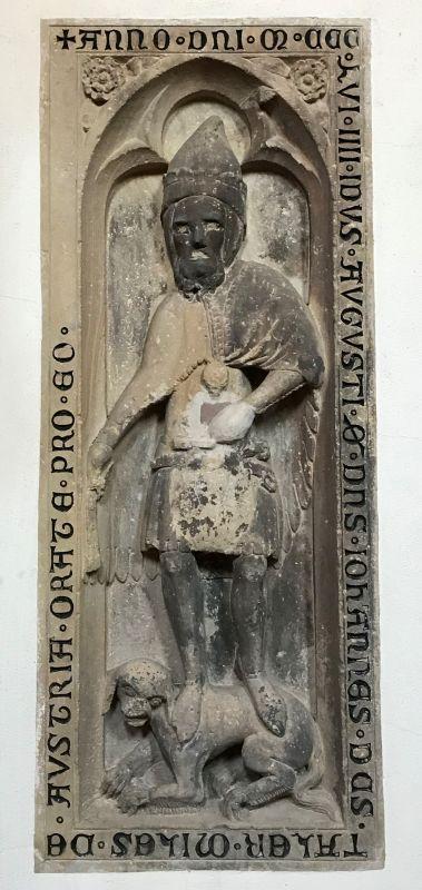 Grabplatte des Ritters Thaler in der Kirche Sankt Thomas in Strassburg