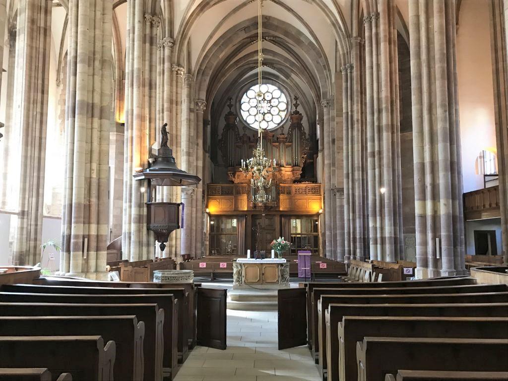 Innenansicht der Thomaskirche Strassburg, Elsass
