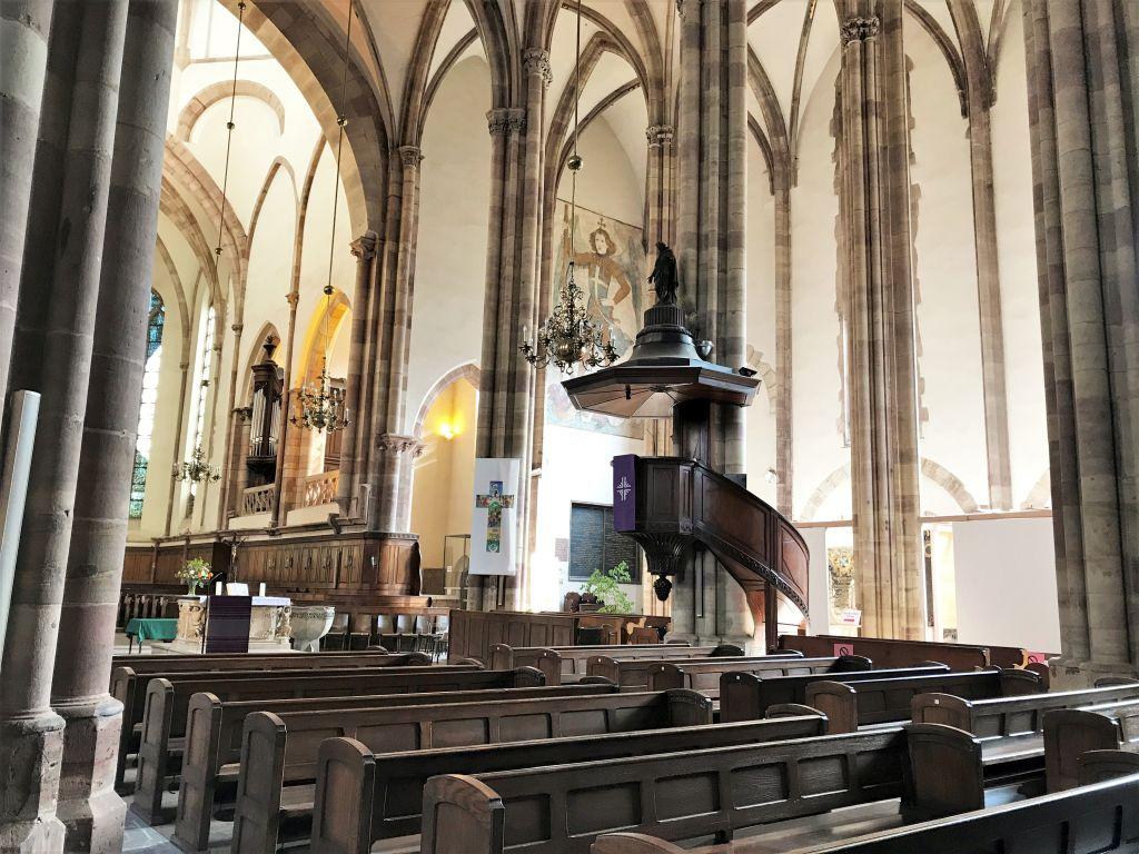 Innenansicht Thomaskirche Strassburg, Elsass