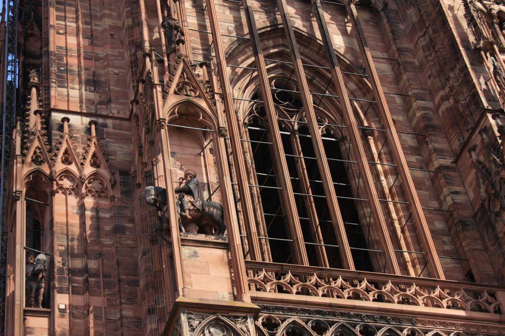 Reiterfigur am Strassburger Muenster